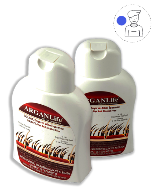 2 BOTTLES OF 250ML ARGANLıfe Haır Shampoo For Men